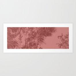 Branches two Yoga mat Art Print