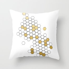 Honey Comb Throw Pillow