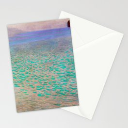 Klimt - Lake Attersea (new editing) Stationery Cards