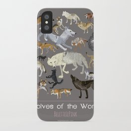 Wolves of the world poster iPhone Case