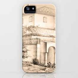 Old house | sketch iPhone Case