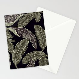 palm leaves black Stationery Cards