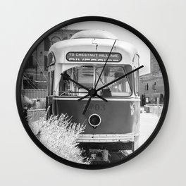 On the Waterfront Trolley Wall Clock