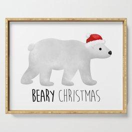 Beary Christmas   Polar Bear Serving Tray