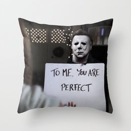 Michael Myers in Love Actually Throw Pillow