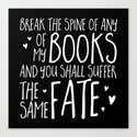 Don't Break My Spine! (Inverted) by bookwormboutique