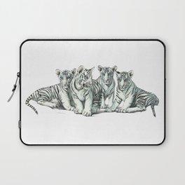 White Tiger Babies Laptop Sleeve