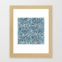 Watercolor Damask Pattern 08 Framed Art Print