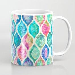 Watercolor Ogee Patchwork Pattern Coffee Mug