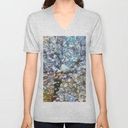 Spring Almond Blossom Unisex V-Neck