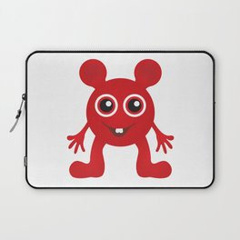 Red Smiley Man Laptop Sleeve