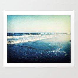 Folly Beach Waves Art Print