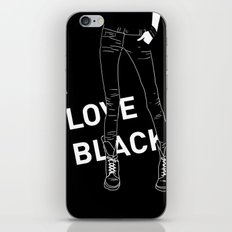 I love black iPhone & iPod Skin
