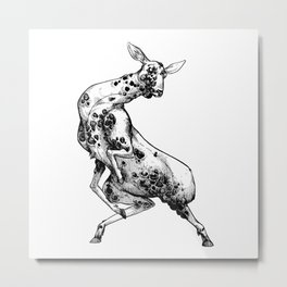 Not a Deer Metal Print