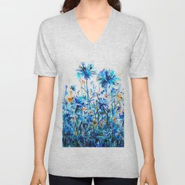 thickets of cornflowers Unisex V-Neck