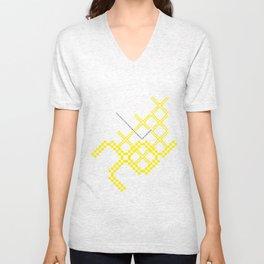 yellow folk Unisex V-Neck