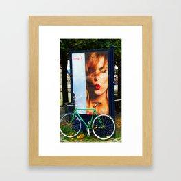 Just a cycle under attention in Kopenhagen Framed Art Print