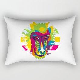 Baboon Head Rectangular Pillow