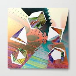 platonic Solids Metal Print