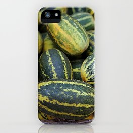Asia Melon in basket on Market #food iPhone Case