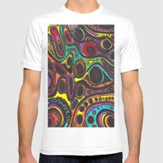Landscape II MEDIUM White Mens Fitted Tee