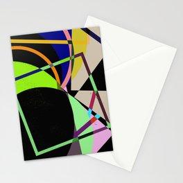 Retro Pastel X - Abstract, geometric, scandinavian pattern artwork Stationery Cards