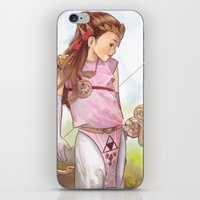 zelda iPhone & iPod Skins featuring Zelda by Sheharzad