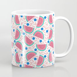 Slicer - watermelon tropical fruit summer spring pattern nature children retro bright happy 1980s Coffee Mug