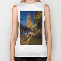 pittsburgh Biker Tanks featuring PITTSBURGH FALL by Stephanie Bosworth