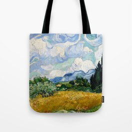 "Vincent van Gogh ""Wheat Field with Cypresses"" Tote Bag"