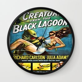 Vintage poster - Creature from the Black Lagoon Wall Clock