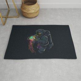astronaut jellyfish space digital art Rug