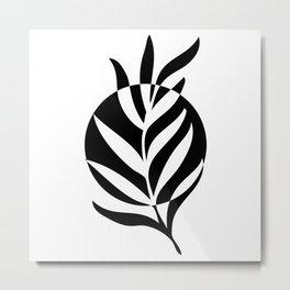 Minimalist leaf Metal Print