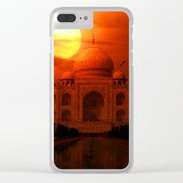 Taj Mahal Sunset Clear iPhone Case