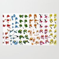 robots Area & Throw Rugs featuring Robots by Artysmedia