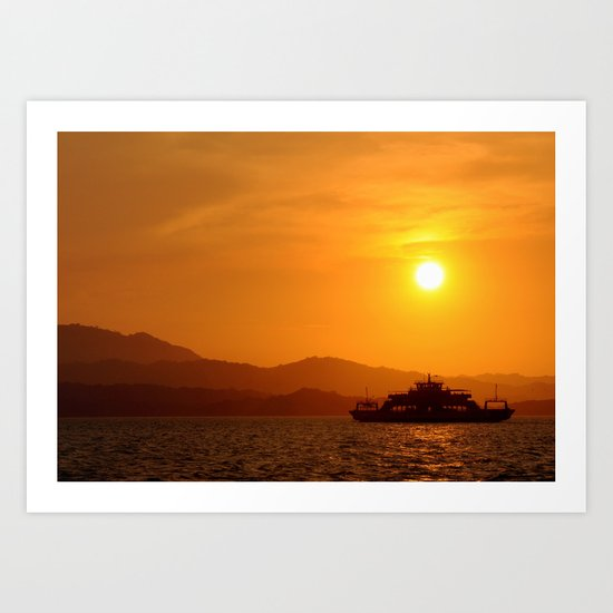 Last Ferry Art Print