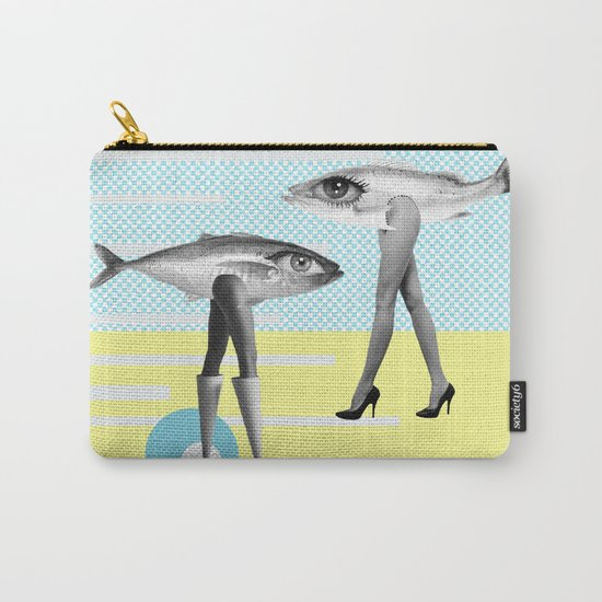 at beach Carry-All Pouch