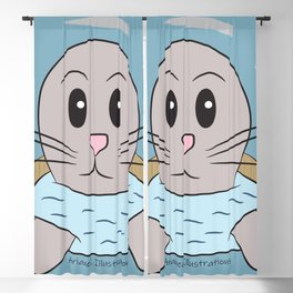 Baby Seal playing peek-a-boo Blackout Curtain