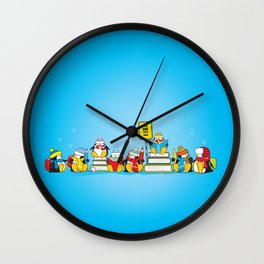 penguins going to school Wall Clock