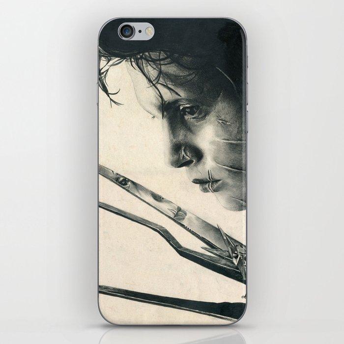 Edward Scissorhands ~ Johnny Depp Traditional Portrait Print iPhone Skin