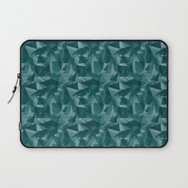 Abstract Geometrical Triangle Patterns 3 Benjamin Moore 2019 Trending Color Beau Green 2054-20 Laptop Sleeve
