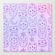 Kitty Mystics in Pink Canvas Print