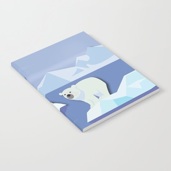 Polar Bears On The Rocks Notebook