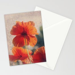 Red Poppies, Flowers Stationery Cards