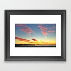 Santa barbara Sunrise Framed Art Print