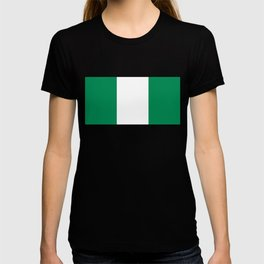 Nigerian Flag - Authentic High Quality HD Image T-shirt
