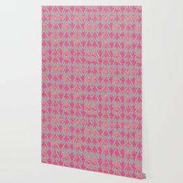 Arabesque Doodle Pattern on light grey Wallpaper