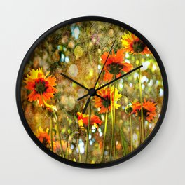 Coreopsis Sunburst Wall Clock