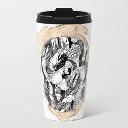 Coffee Stained Crawfish Boil-Louisiana Series Travel Mug