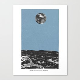 Earth from the Moon Canvas Print